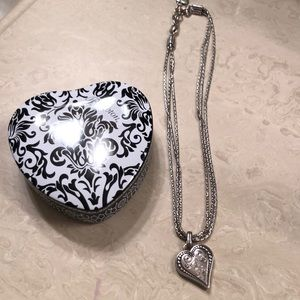 BRIGHTON sterling silver heart necklace